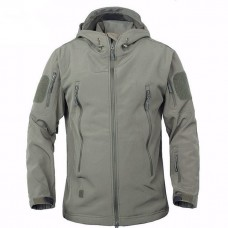 Куртка софтшелл серый с капюшоном АКЦИЯ