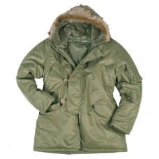 Купить Парка Аляска Mil-Tec US N3B TEESAR OLIVE в интернет-магазине Каптерка в Киеве и Украине