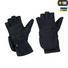 Зимові безпалі рукавички M-TAC WINDBLOCK 295 DARK NAVY BLUE
