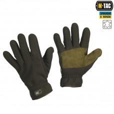 Зимние перчатки M-Tac Winter Windblock цвет олива