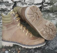 Зимние женские ботинки на меху. Койот. Берцы 14см