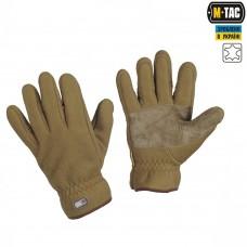 Зимние перчатки флис M-Tac Winter Windblock coyot