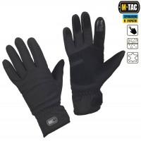 Зимові рукавички софтшелл M-Tac WINTER TACTICAL WATERPROOF чорні Накладка Touch Screen