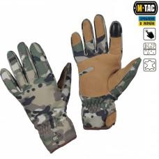 Зимние перчатки софтшелл M-Tac WINTER TACTICAL WATERPROOF MULTICAM