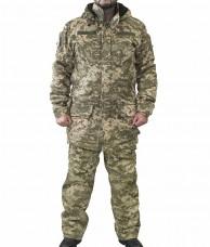 Зимний костюм камуфляж укрпиксель на флисе
