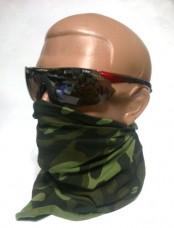 Защитные очки красная оправа, 4 линзы и вставка для диоптрических линз