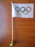 Олимпиада настольный флажок