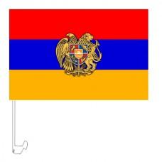 Автомобільний прапорець Вірменія з гербом