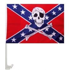 Автомобільний прапорець Конфедерація з черепом