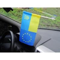 Автомобільний прапорець Україна-ЄС