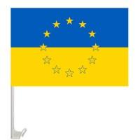 Автомобільний прапорець Україна в Євросоюзі