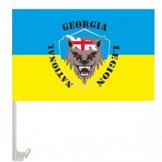 Флаг Грузинский Легион с креплением на авто