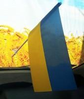 Украинский флажок в авто