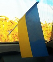Прапорець в авто Україна
