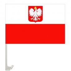 Автомобильный флажок Польша с гербом