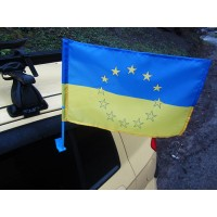 Украина - Евросоюз автофлаг