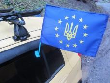 Автомобільний прапорець Україна в ЄС