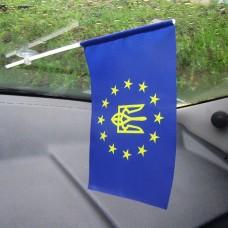 Украина в Евросоюзе флажок в авто