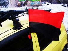 Червоно-чорний автомобільний прапорець