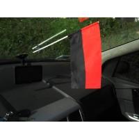 Автомобільний прапорець червоно-чорний