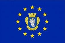 Флаг Киев в Евросоюзе