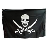 """Флаг пиратский """"Череп и сабли"""""""