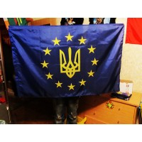 Украина в Евросоюзе символический флаг