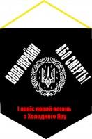 Вимпел Воля України - Або Смерть! І Повіе новій вогонь з холодного Яру