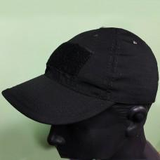 Черная кепка бейсболка с липучками