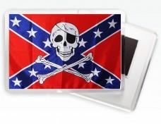 Магнитик Флаг Конфедерации с черепом