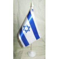 Настільний прапорець Ізраїль (атлас)