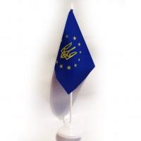 Настільний прапорець Україна в Євросоюзі