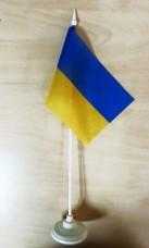 Купить Настольный флажок Украина с подставкой в интернет-магазине Каптерка в Киеве и Украине