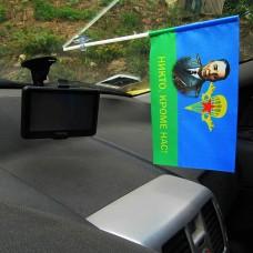 Маргелов В.Ф. Автомобильный флажок с девизом Никто, кроме нас!