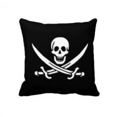 """Подушка """"черная метка"""" Пиратский череп и сабли"""