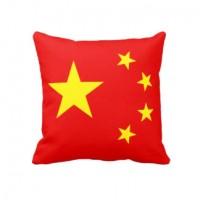 Декоративна подушка прапор Китаю (варіант 2)