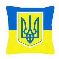 Подушка флаг Украины сТризубом