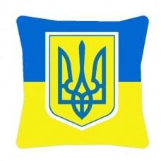Декоративна подушка прапор України з Тризубом