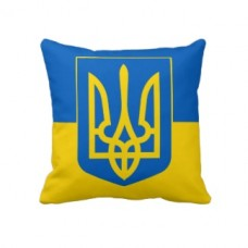 Купить Декоративна подушка Україна з тризубом в интернет-магазине Каптерка в Киеве и Украине