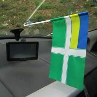 Пограничный флаг морчасти Украины в авто