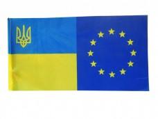 Купить Прапор ЄС-Україна в интернет-магазине Каптерка в Киеве и Украине