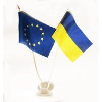 Настольные флажки Евросоюз и Украина
