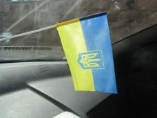 Автомобильный флажок Украина тризуб