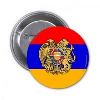 Значок флаг Армении с гербом