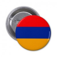 Значок флаг Армении круглый