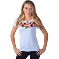 Женская футболка с вышивкой белая
