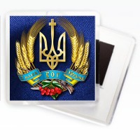 Магніт Герб України - З нами Бог