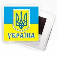 Магнитик Флаг Украины с тризубцем