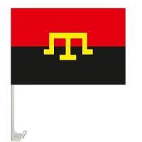 Авто прапор Тамга червоно чорний
