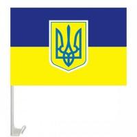 Автомобільний прапорець України з гербом